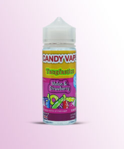MELON & STRAWBERRY E-LIQUID BY CANDY VAPE 120ML