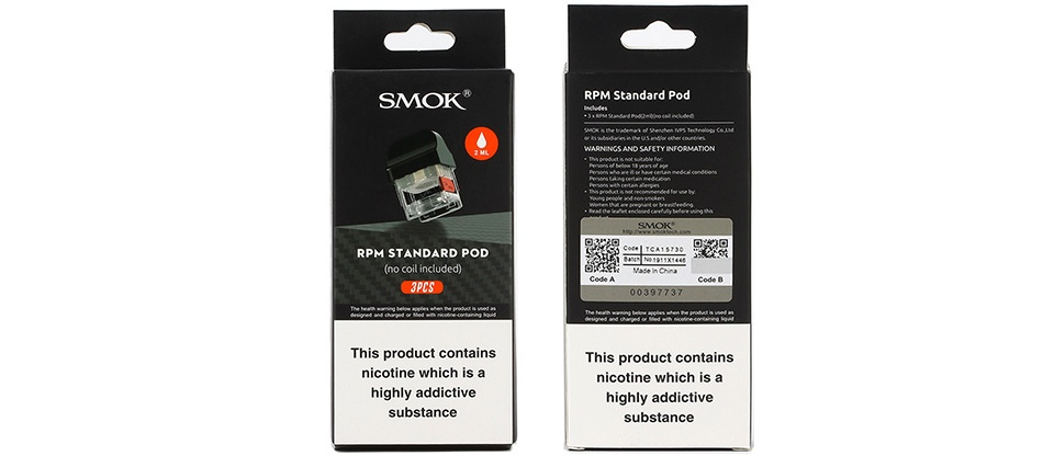 SMOK RPM STANDARD POD 4.3ML - PACK OF 3