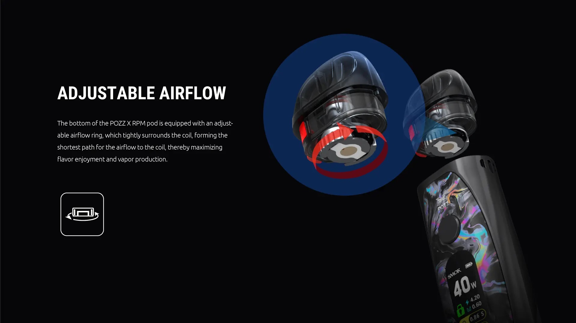 adjustable airflow