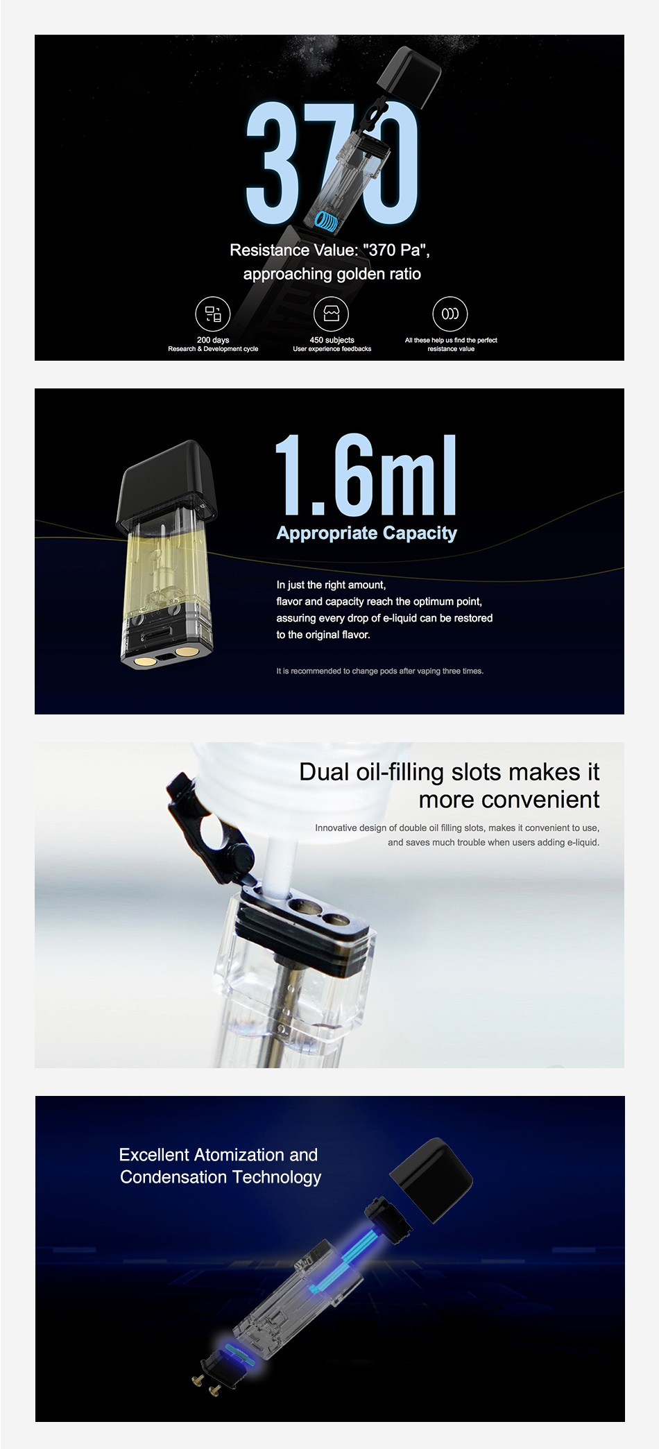 VOOPOO DRAG NANO P1 REPLACEMENT POD 1.6ML - PACK OF 2
