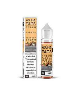 PAPAYA COCONUT CREAM PEACH E-LIQUID BY PACHA MAMA 50ML